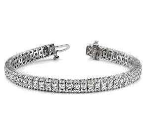 Round and Princess Diamond Bracelet