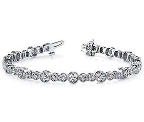 Graduated Antique Diamond Bracelet