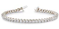 Classic Four Prong Diamond Bracelet 2.4 Carat Total Weight