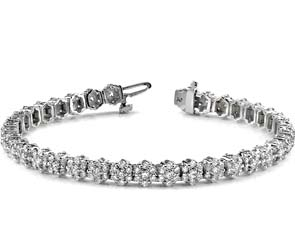 Pentagon Diamond Bracelet