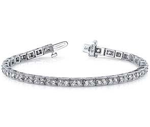 Vintage Double Diamond Box Bracelet