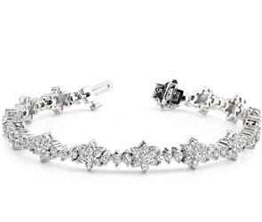 Diamond Cluster Bracelet