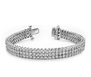 Triple Strand Diamond Bracelet
