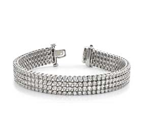 Four Row Diamond Bracelet