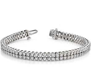Double Row Diamond Bracelet