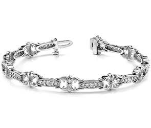 Crown Link Bracelet