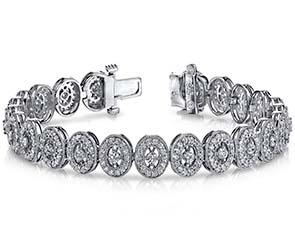 Ornate Diamond Link Bracelet