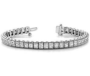 Millgrain Edge Diamond Bracelet