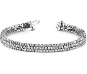 Showstopper Triple Row Diamond Bracelet
