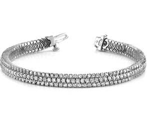 Showstopper Triple Row Diamond Bracelet