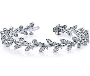 Vintage Style Leaf Diamond Bracelet