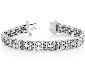 Diamond Brick Bracelet
