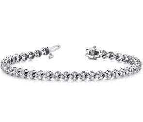 Double Diamond Stacked Bracelet