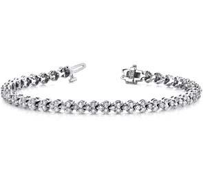 Double Diamond Stacked Bracelet