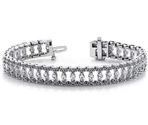 Filigree Diamond Candlestick Bracelet