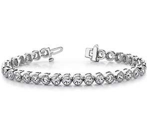 Circle Millgrain Diamond Bracelet