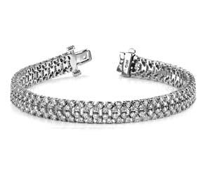 Quad Row Diamond Bracelet