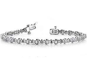 Triple Diamond Link Bracelet