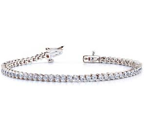 2-Prong Set Round Diamond Bracelet