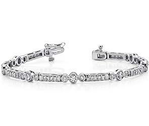 Circle Square Diamond Bracelet