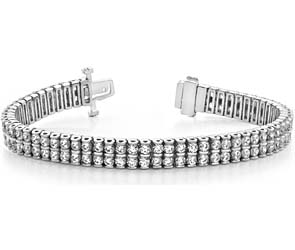 Two-Row Diamond Bracelet