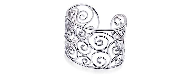 Sterling Silver Diamond Cuff Bracelet 3/8 Carat Total Weight