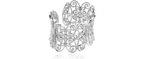 Diamond Cuff Bracelet 3/4 Carat Total Weight