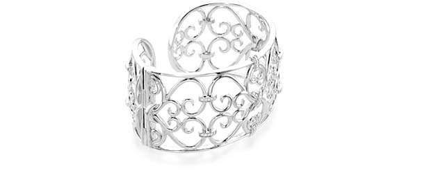Sterling SIlver Diamond Cuff Bracelet 1/3 Carat Total Weight
