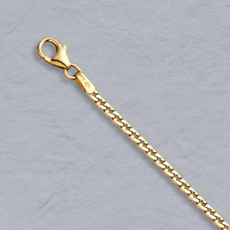 7-Inch 14K Yellow Gold Virola 2.2mm Bracelet