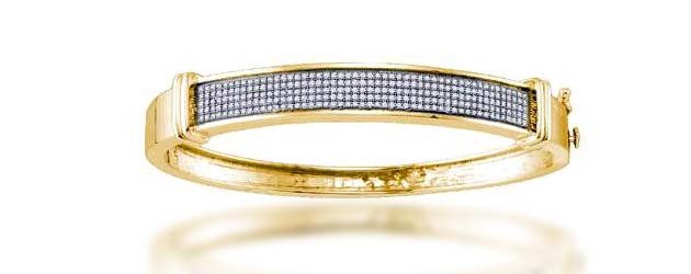 Ladies Micro Pave Bangle Bracelet 3/4 Carat Total Weight 3/4 Carat Total Weight