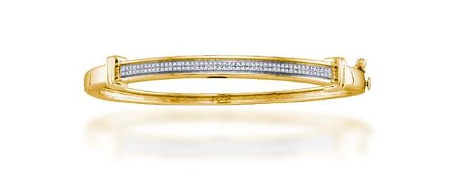Diamond Micro Pave Bangle Bracelet 1/3 Carat Total Weight