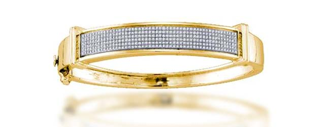 Diamond Micro Pave Bangle Bracelet .90 Carat Total Weight