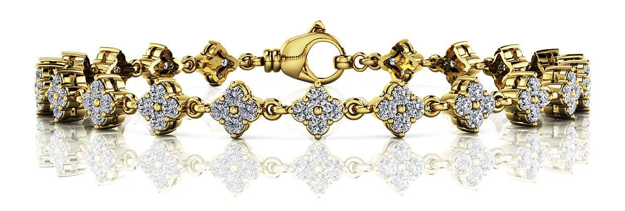 Fleur Link Diamond Bracelet 1.85 Carat Total Weight