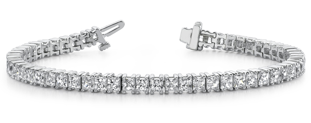 Princess Cut Diamond Strand Bracelet 4.8 Carat Total Weight