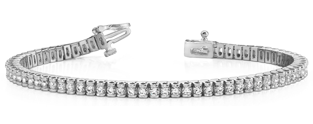 Channel Set Box-Link Diamond Bracelet 2.54 Carat Total Weight