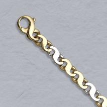 20-Inch 14K Yellow/White Gold Figure Eight 6.0mm Chain