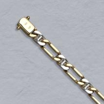14K Yellow/White Gold 1+1 Link Chain