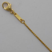 14K Yellow Gold Round Box Chain 1.0mm