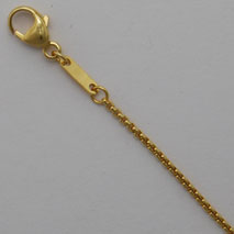 14K Yellow Gold Round Box Chain 1.2mm