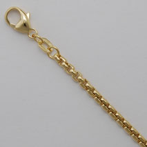 14K Yellow Gold Round Box Chain 2.7mm