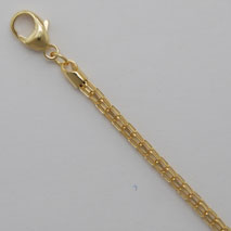 14K Yellow Gold Crown Chain 2.3mm