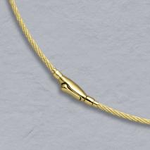 14K Yellow Gold Cablewire 1.5mm, Crocodile Clasp