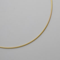 14K Yellow Gold Round Omega Chain 1.5mm