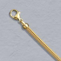 14K Yellow Gold Foxtail Mesh 3.1mm Chain, Lobster Clasp