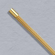 14K Yellow Gold Foxtailmesh 3.6mm, Bayonet Clasp