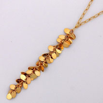 14K Yellow Gold Open Link w Yellow Gold Confetti ' Y ' Drop Chain