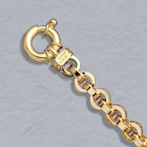 14K Yellow Gold Hollow Link 7.5mm Chain