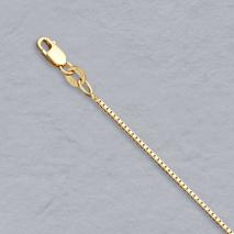 14K Yellow Gold Box Chain 1.0mm