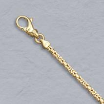 14K Yellow Gold Square Byzantine Chain 2.0mm