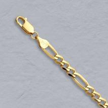 14K Yellow Gold Figaro Chain 4.3mm